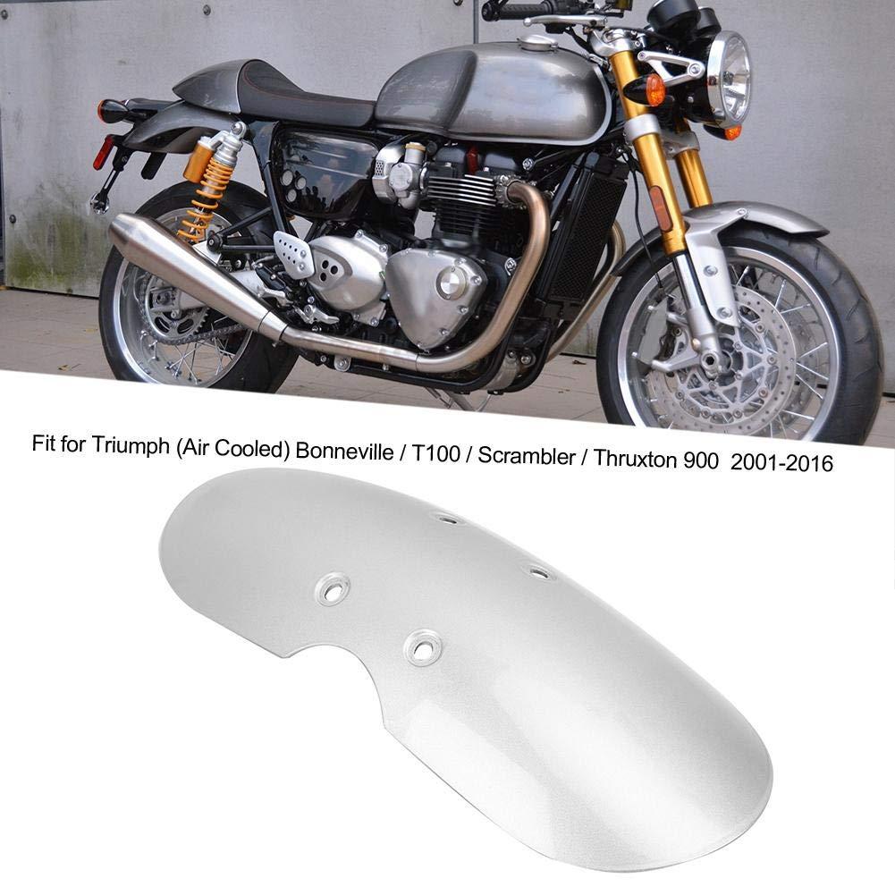 cubierta de guardabarros delantera de moto apta para Triumph Bonneville T100 2001-2016 Mootea Guardabarros de motocicleta Negro
