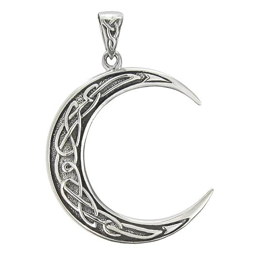 Amazon sterling silver crescent celtic moon pendant jewelry sterling silver crescent celtic moon pendant aloadofball Choice Image