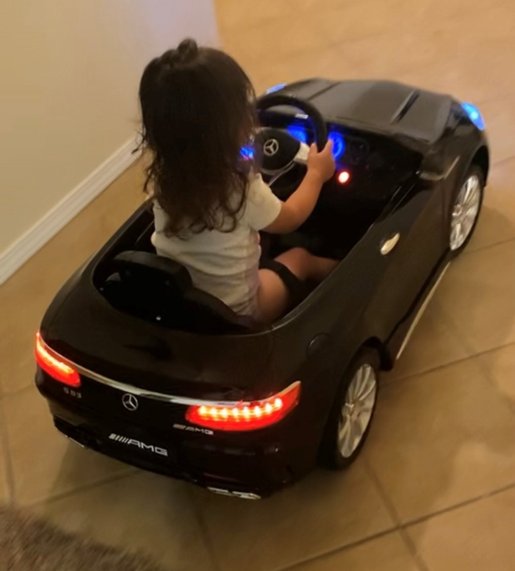 Mercedes Benz Licensed  Electric Kids Ride on Cars Remote Control, Black photo review