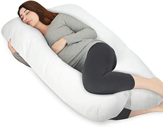 Hypoallergenic Pillowcase Pregnancy Maternity Pillow Body Support Blue