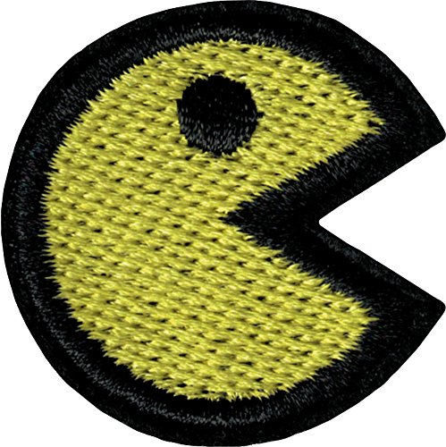 Yellow Pac-Man Iron Sew On Patch / Applique (80s Characters)