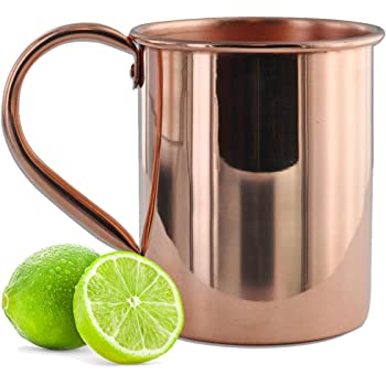 Amazon Com 100 Pure Copper Solid Moscow Mule Mug 24