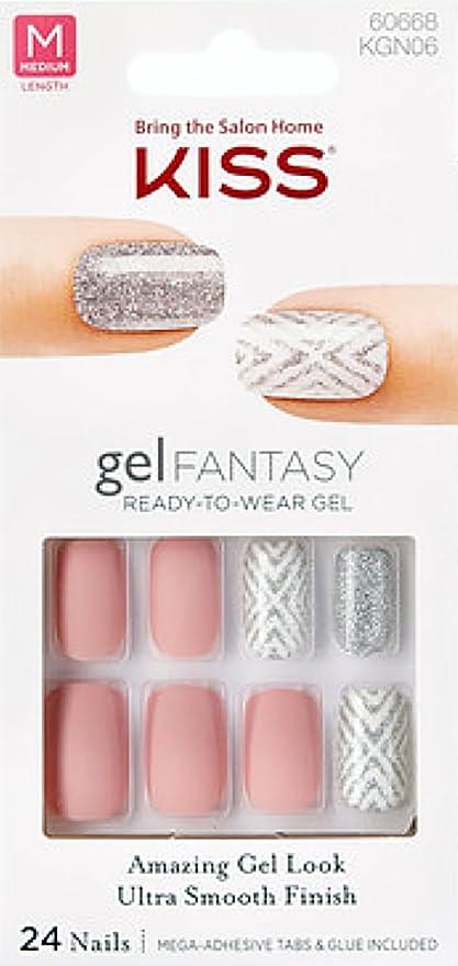 Buy **NEW** Kiss Nails GEL FANTASY KGN06 (TO THE MAX) Medium Design ...
