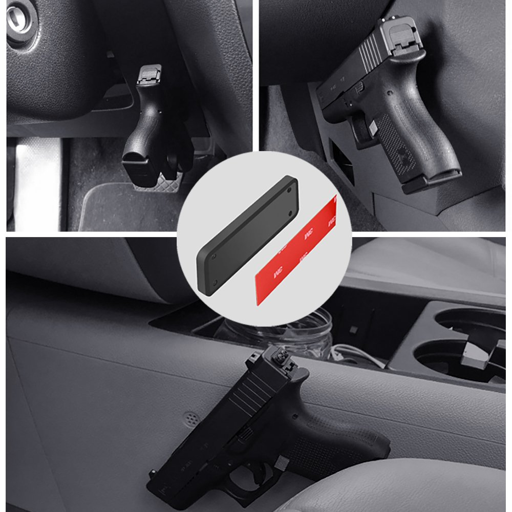 LATIT Magnetic Gun Mount, Tactical Concealed Gun Magnet with Powerful magnet over 43lbs, Easy Access Mount Throughout Your House, Office, Car, Barn, or Shop