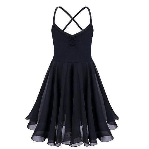 YiZYiF Girls Chiffon Ballet Dancer Leotard Dress Camisole Fancy Dancing Costumes