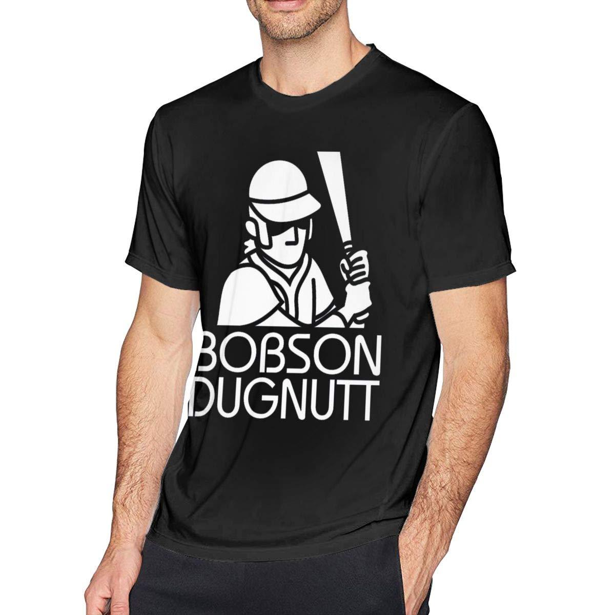 JiaBa Bobson Dugnutt Dark Mens Short Sleeve T-Shirt Black