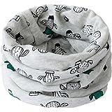 Bufanda para niño Fablcrew, con diseño de animales gris Talla:40*20cm