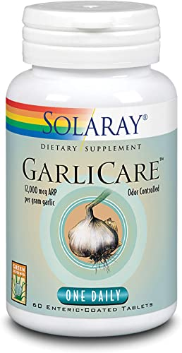 Solaray Garlicare Tablets, 12000mcg, 60 Count
