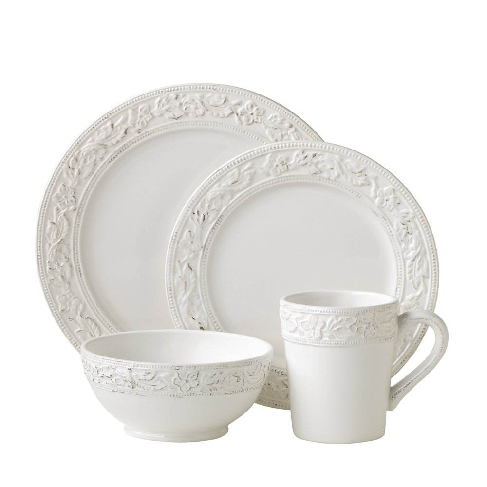 Amazon.com | Pfaltzgraff Country Cupboard 4-Piece Dinnerware Set Service for 1 Dinnerware Sets Dinnerware Sets  sc 1 st  Amazon.com & Amazon.com | Pfaltzgraff Country Cupboard 4-Piece Dinnerware Set ...