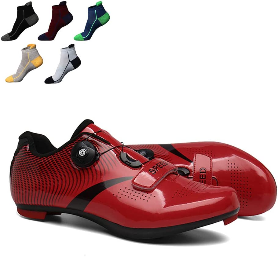 YZJYB - Zapatillas de ciclismo para adultos, ligeras, suela de nailon, con 5 pares de calcetines deportivos, el mejor regalo para familiares y amigos, 39: Amazon.es: Deportes y aire libre