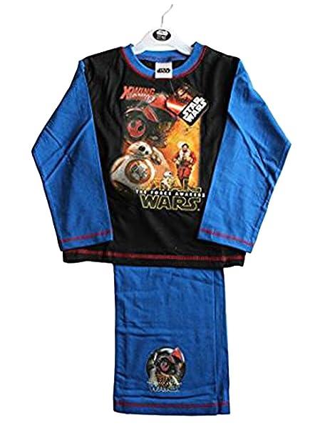 Personaje disney Juego de pijamas de color azul marino para niños de Star Wars (4