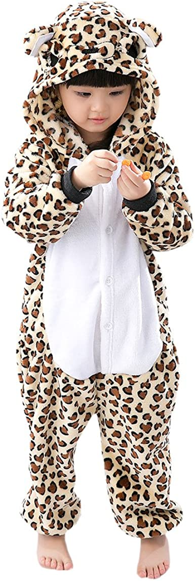 Hstyle Niñas, Niños Pijamas De Dibujos Animados De Cosplay De Prendas De Vestir Traje Ropa De Hogar Leopard
