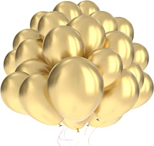 60 Pack Gold Balloons w/Ribbon   Balloons Gold   Gold Balloon   Gold Latex Balloons   Golden Balloons   Gold Balloons 12 inch   Gold Balloon   Bachelorette Party Balloons   Birthday Balloons  