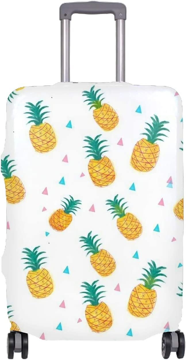 Cool Travel Luggage Protective Covers for 18-32 Suitcase Elastic Blue Pineapples