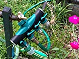 2wayz Premium 4 Way Garden Hose Splitter. Stop Running Around The Yard With Your Water Hose! 3/4 Inch Adapter - Backwash Faucet Manifold Fitting. Best Rubber Coated Valve coupling. Enjoy!