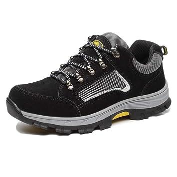 snfgoij Calzado de Trabajo Negro para Hombre Zapatillas de ...