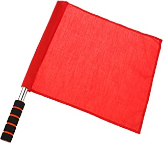 DYNWAVE Solid Red Athletic Linesman Flag Hand Stick Handheld Flags International