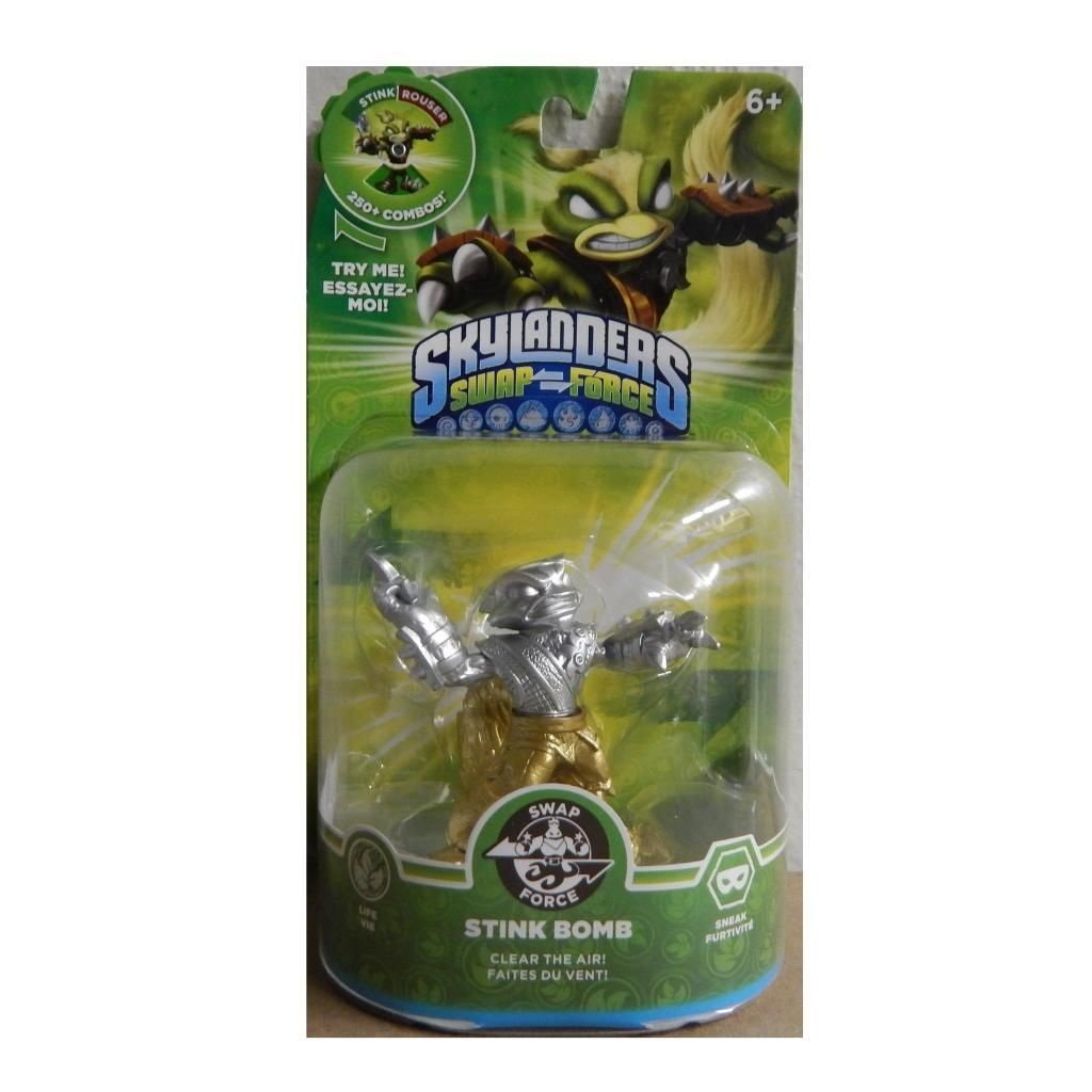 Skylanders SWAP Force Stink Bomb SILVER and GOLD Metallic Variant by  (Image #1)