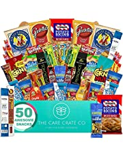 The Care Crate Man Box Ultimate Men's Snack Box Care Package ( 45+ Piece Snack Pack ) Chips Variety Pack, Cookies, Pretzels, Jerky, Nuts