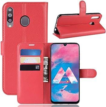 Funda para Samsung Galaxy M30 Case Flip Cover Cartera con Ranura ...