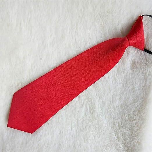 xqzs Vino Tinto Corbata roja Estudiante Corbata pequeña Camisa con ...