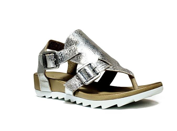 bueno shoes scarpe donna sanda o con zeppa zeppa bassa primavera ... e52c95d0d3d