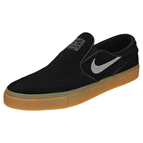 check out a88aa 345a8 ... new zealand nike sb zoom stefan janoski mens slip on black gum 7 uk  97b61 909fe