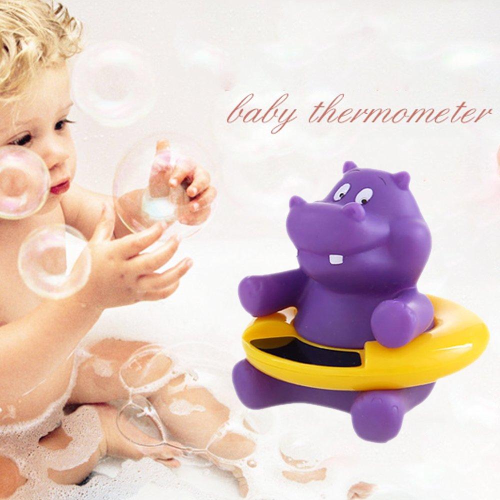 Newin Star Thermom/ètre en forme danimal domestique pour enfants Mesure de la temp/érature du bain 9,5/x 8,5/cm violet violet