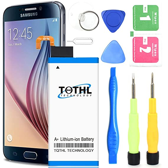 Galaxy S6 Edge Battery Replacement Kit, TQTHL 2800mAh Li-Polymer Extended  Battery EB-BG925ABE Replacement for Samsung Galaxy S6 Edge G925 G925A G925P