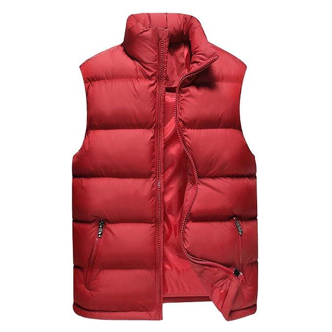 Uomo Inverno Gilet Tinta Unita Casual Gilet Giubbino Senza Maniche Giacca  Vestiti Panciotto Smanicato Caldo Gilet Cappotto Leggero Corto Giubbotto  M-6XL  ... 6463578a84f