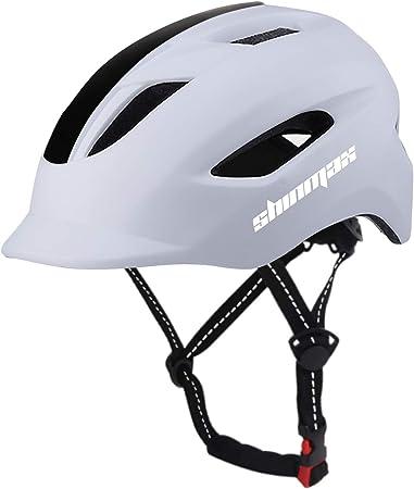 Shinmax Casco Bicicleta,Certificación CE,con luz Trasera LED y Diseño de Cinturón de Seguridad Reflectante,Montar Ski & Snowboard Casco Unisex Cascos ...