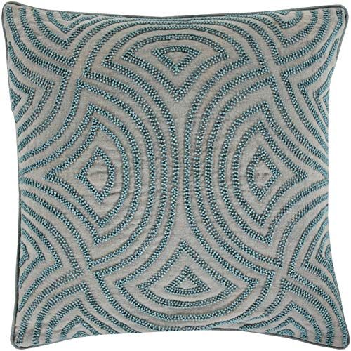 Surya Skinny Dip Blue 18-Inch Pillow Cover ()