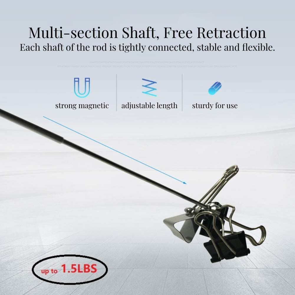Portable Telescopic Magnetic Long Pen Pick Up Rod Stick Extending