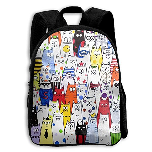 Girls Color Cats Popular Printing Toddler Pre School Backpack Bags Lightweight