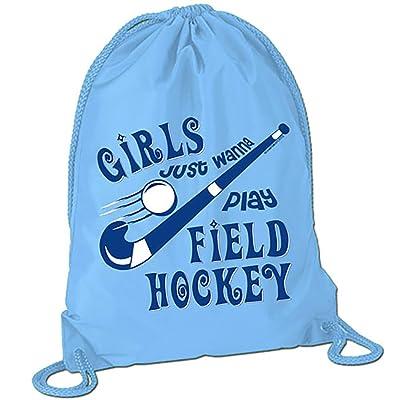 Girls Just Wanna Play Field Hockey Sport Pack Cinch Sack | Field Hockey Bags by ChalkTalkSPORTS | Multiple Colors