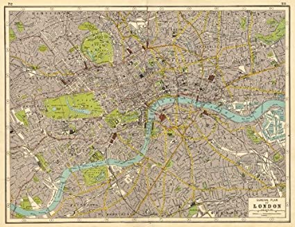 Map Of London Central.Amazon Com London Central London Plan Harmsworth 1920 Old Map