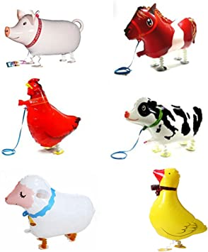 Amazon.com: 6 piezas Walking Animal Globos Pet Globos ...