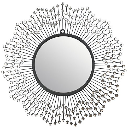 "LuLu Décor, Celebration Metal Wall Mirror, Frame 24"", Round Decorative Mirror for Living Room and Office Space by LuLu"