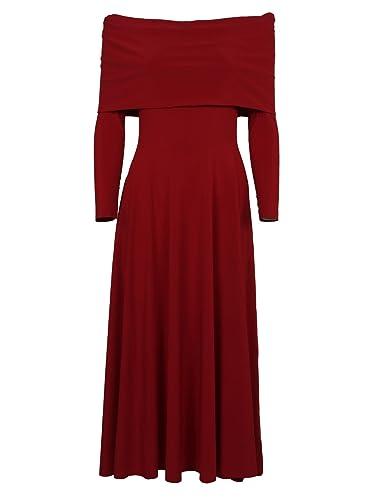 Norma Kamali Vestito Donna Kk3273pl026004 Poliestere Rosso