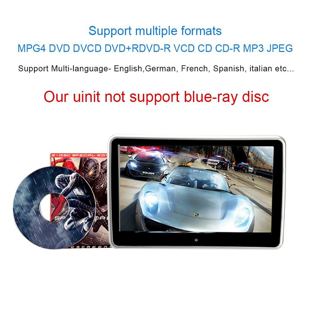 101 Inch Hd Digital Multimedia Monitor Super Thin Car Nissan Headrest Wiring Harness Dvd Player With Ir Headphone And Hdmi Port Remote Control Usb Sd