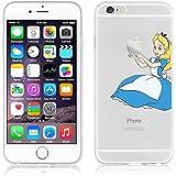 Disney PRINCESS transparente in poliuretano termoplastico per iPhone-Cover ,trasparente in poliuretano termoplastico per iPhone5,5S,5C,6/6S,6+,iphone7(iphone 6/6s,Alice)