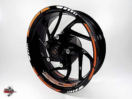Bike-Label 710046-VA Juego de adhesivos para llanta de llanta para KTM 390 Duke