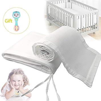 Amazon.com: Protector para cuna de bebé, seguro y ...