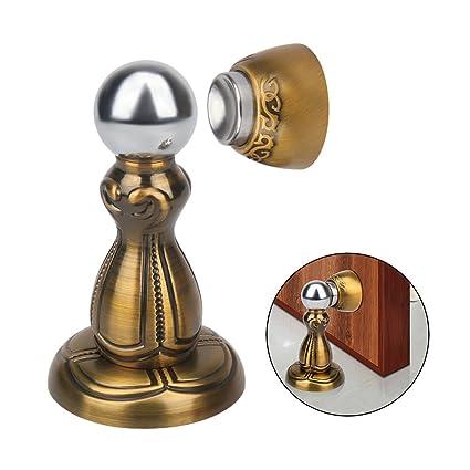 Yasorn Door Stop Strong Magnetic Door Stopper Brass Door Holder Heavy Duty  Door Catch With Mounting