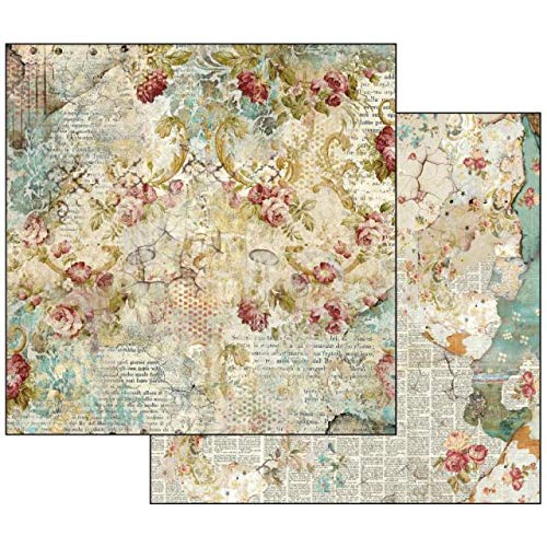 - Stamperia Intl SBB520 Time is an Illusion Floral Texture, Multicolor