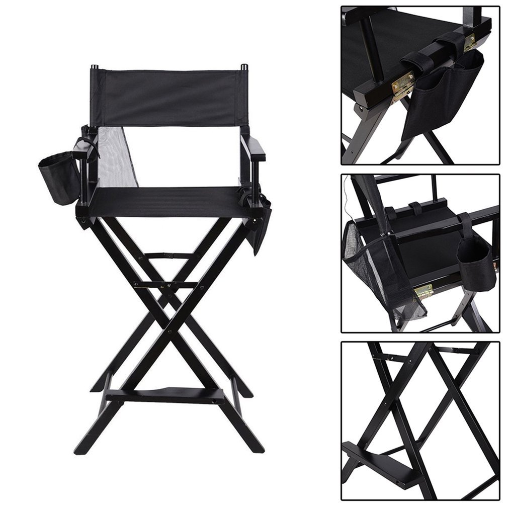 ALTERDJ Portable Wooden Makeup Chair With Side Bags Folding Artist Director Chair Professional Beauty Tool Make-Up Accessories