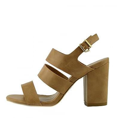 Kick Footwear - Damen Sandaletten mit Schnalle Ankle Strap Black Patent Sandalen