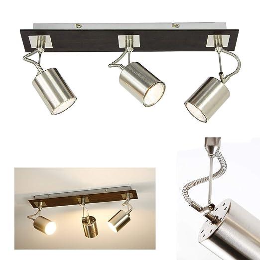ZMH - Lámpara de techo LED con tres focos ajustables, focos ...