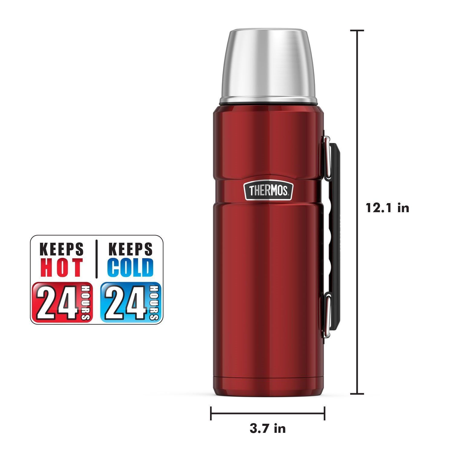 Thermos Stainless King 40 Ounce Beverage Bottle, Cranberry by Thermos (Image #5)