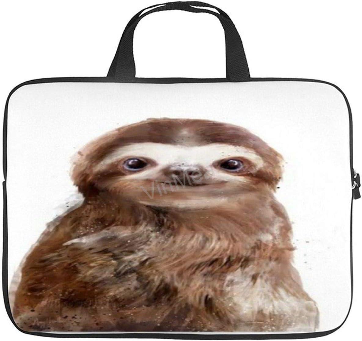 Laptop Shoulder Bag, Funny Poster Pictures Little-Sloth-Amy-Hamilton Waterproof Laptop Bag Computer Bag for Men Women School Work 15 Inch